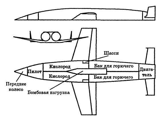 Схема бомбардировщика Зенгера