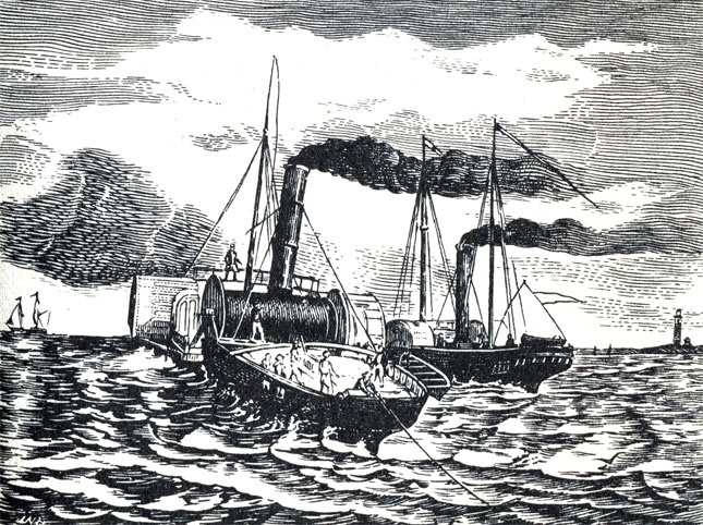 Прокладка телефонного кабеля 1860