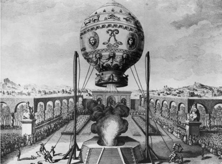 воздушный шар братьев Монгольфъе